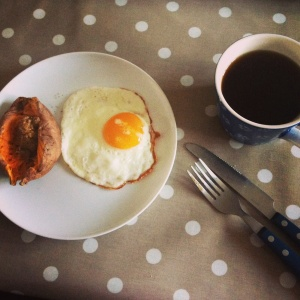 potato, egg, coffee